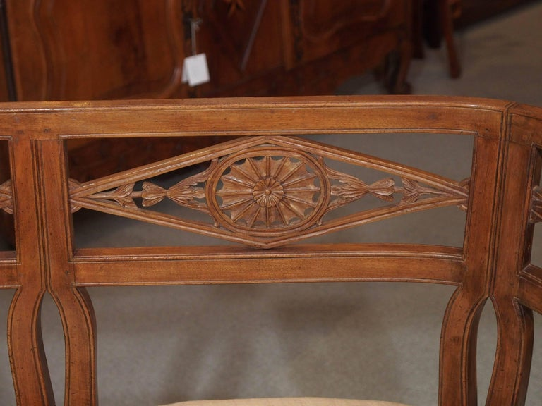 Antique French Fruitwood Settee, Directoire Style In Good Condition For Sale In New Orleans, LA