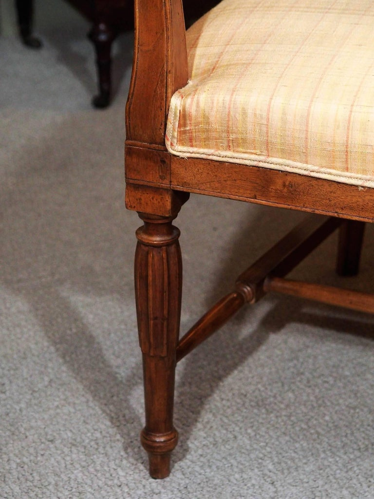 Antique French Fruitwood Settee, Directoire Style For Sale 1