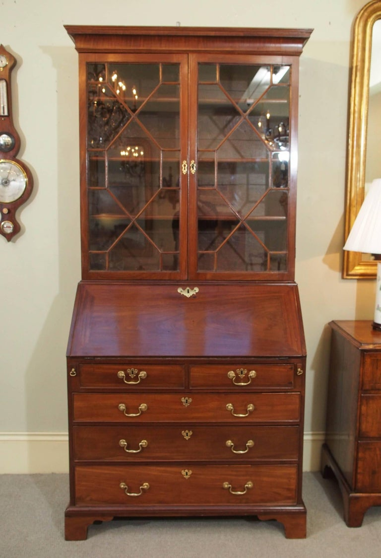 18th century Georgian mahogany secretary. 2