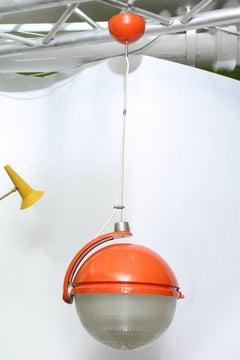 Ceiling Fixture Mid-Century Modern Italy 1960's globe rotates