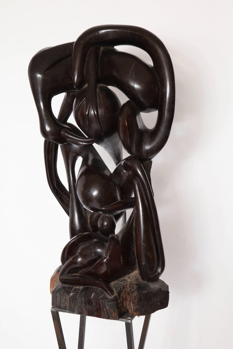 Shona  Abstract Carved Wood Sculpture Africa, 1970s 5