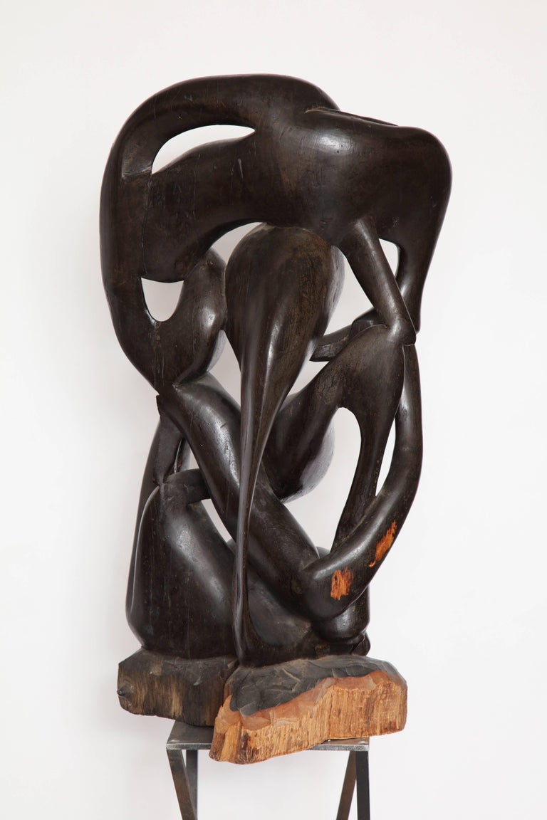 Shona  Abstract Carved Wood Sculpture Africa, 1970s 8