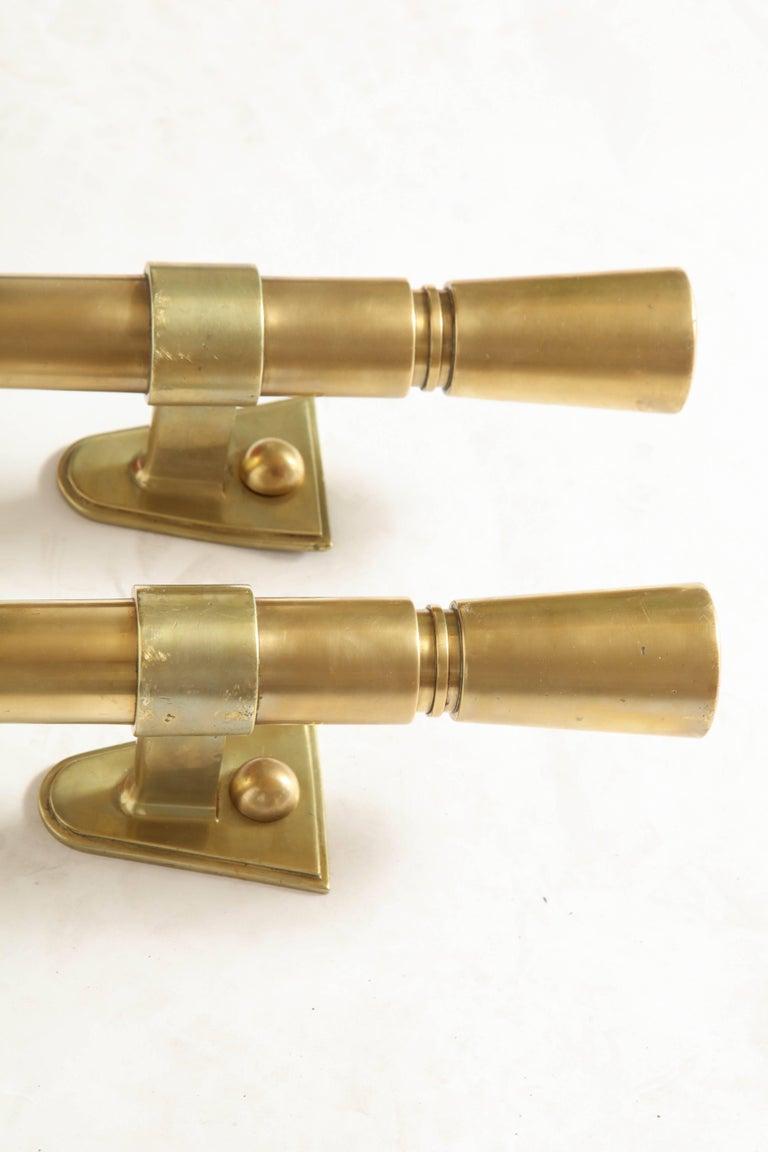 Brass Door Pulls Art Deco Modernist, French, 1920s 6