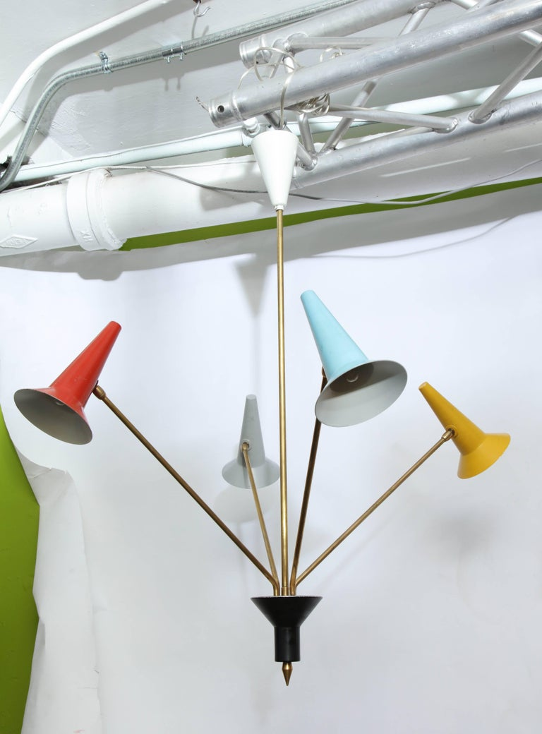 Lumen Mid-Century Modern Articulated Ceiling Fixture, Italy, 1950s 2