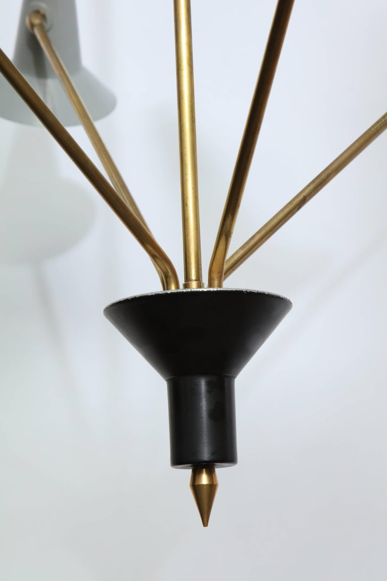 Lumen Mid-Century Modern Articulated Ceiling Fixture, Italy, 1950s 4