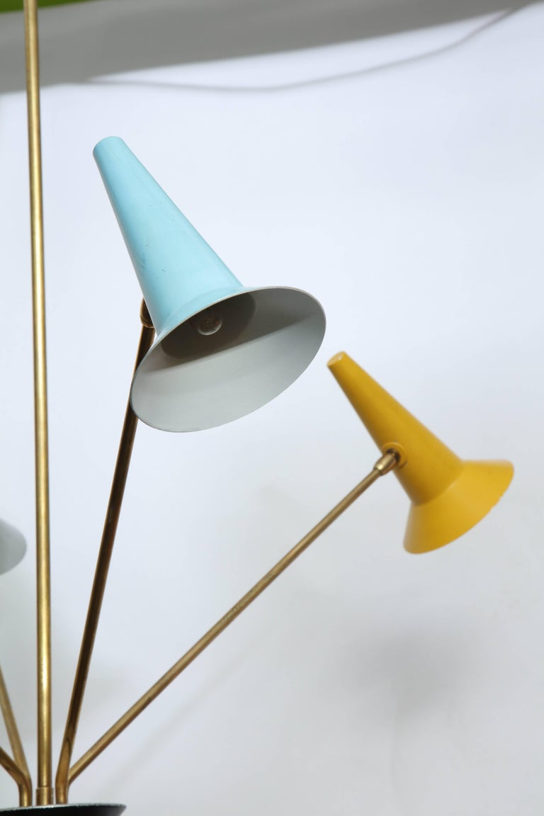 Mid-20th Century Lumen Mid-Century Modern Articulated Ceiling Fixture, Italy, 1950s For Sale