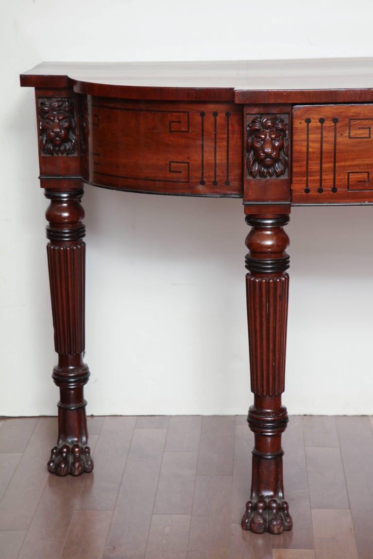 Early 19th Century English Regency, Mahogany Serving Table with Drawer 3