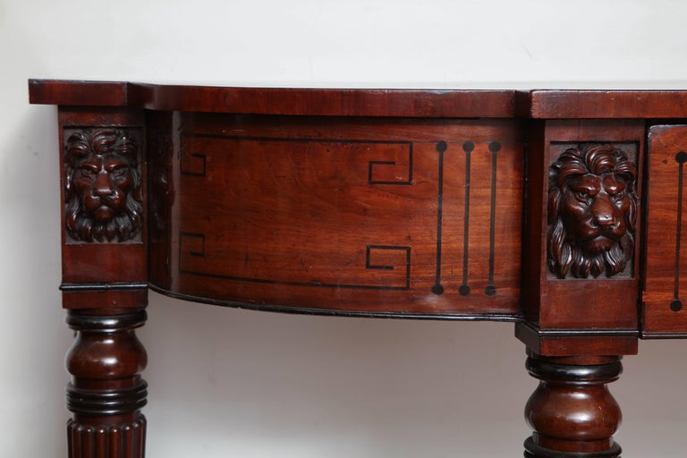Early 19th Century English Regency, Mahogany Serving Table with Drawer 6