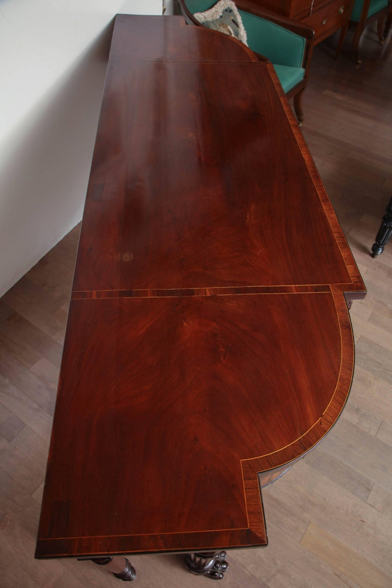 Early 19th Century English Regency, Mahogany Serving Table with Drawer 10