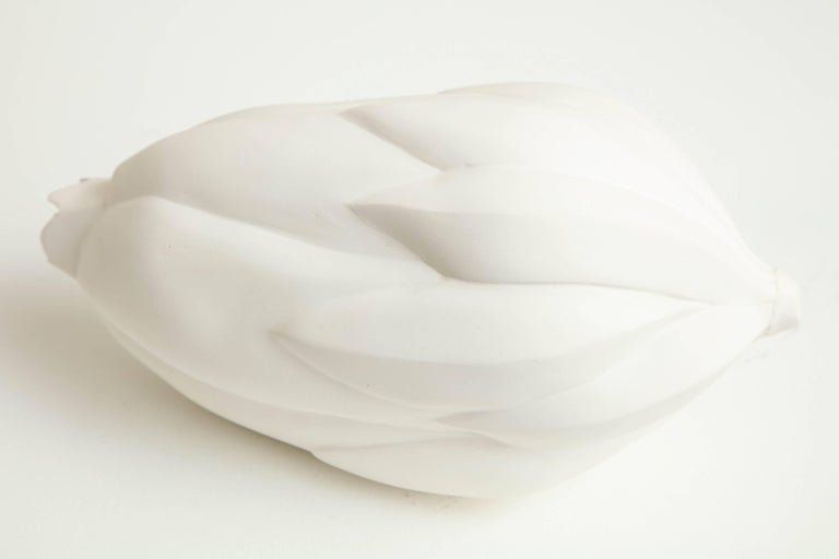Large Porcelain Bud in White by Anat Shiftan, 2017 For Sale 3