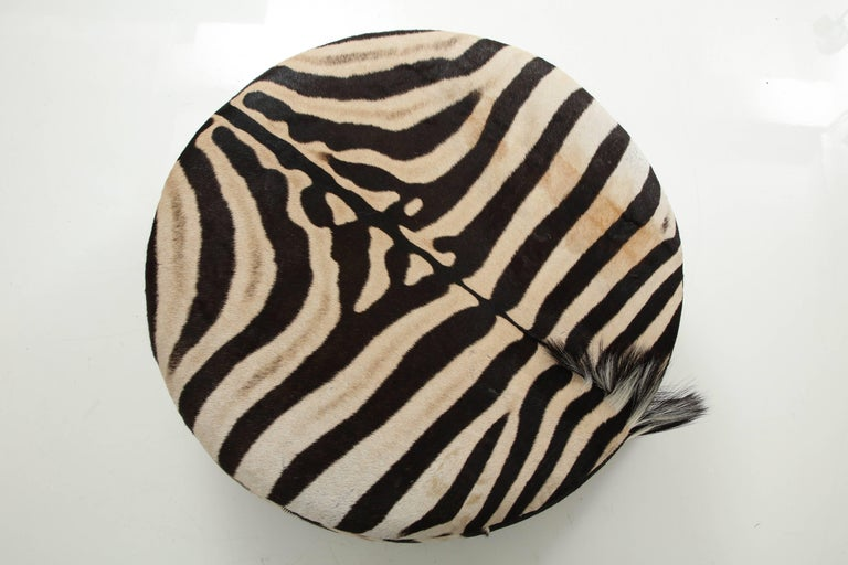 Zebra Hide Ottoman For Sale At 1stdibs