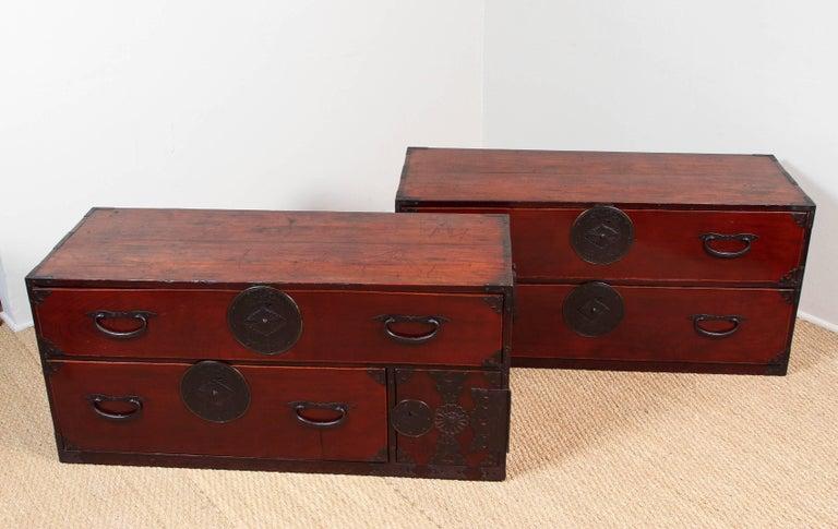 Antique Double Tansu For Sale 2