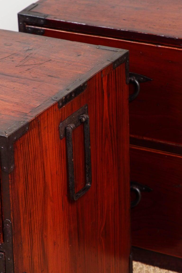 Antique Double Tansu For Sale 4
