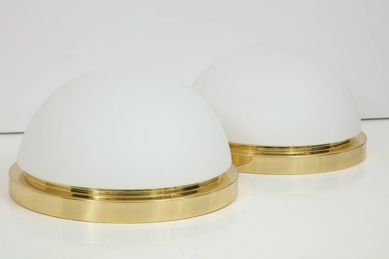 Mid-Century Modern Extra Large Flush Mount Fixtures or Sconces by Limburg For Sale
