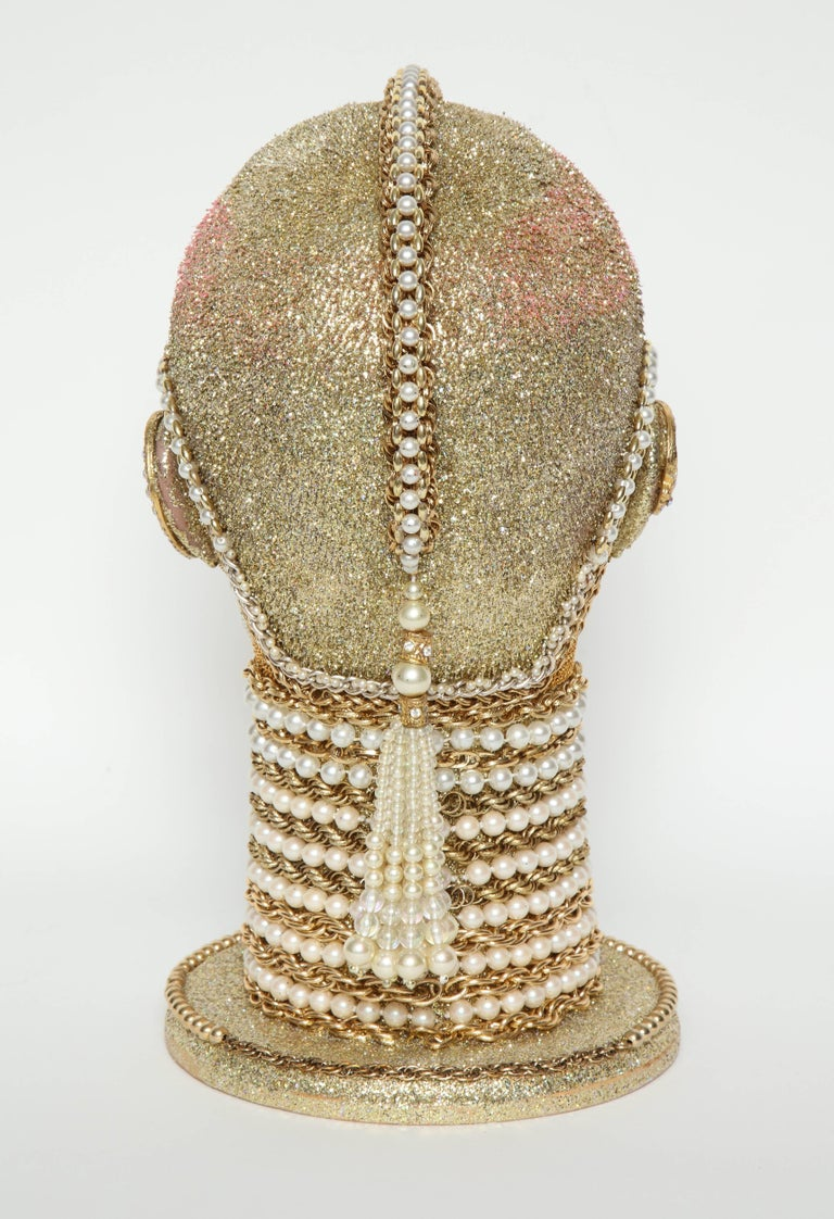 W. Beaupre Gold Chain Android Bust In Excellent Condition For Sale In New York, NY