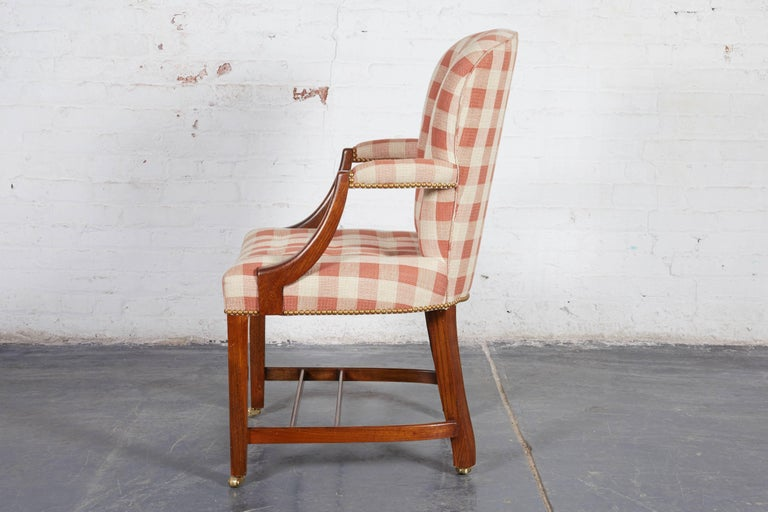 20th Century Set of Four Hepplewhite Style Oak Armchairs For Sale