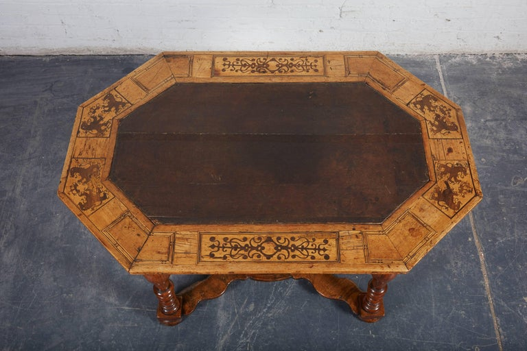 Louis XIV Late 17th Century French Laburnum and Marquetry Centre Table For Sale