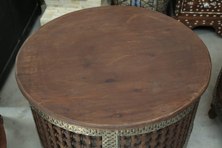 Superb Pair Of Two Round Moroccan Coffee Tables At Stdibs - Round lattice coffee table