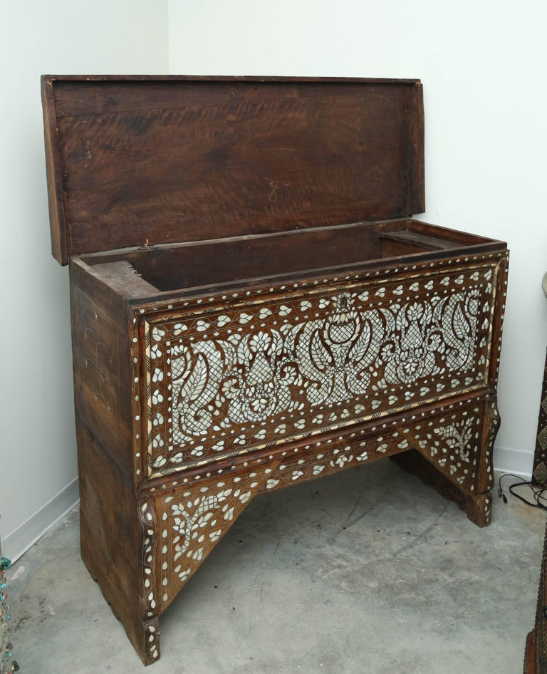 Syrian Superb 19th Century, Mother-of-Pearl Wedding Chest from Syria For Sale