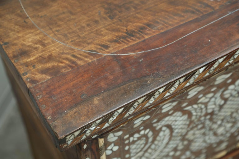 Superb 19th Century, Mother-of-Pearl Wedding Chest from Syria For Sale 2