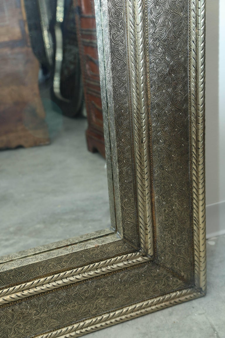 Superb Pair Of Large Moroccan Keyhole Mirrors For 1