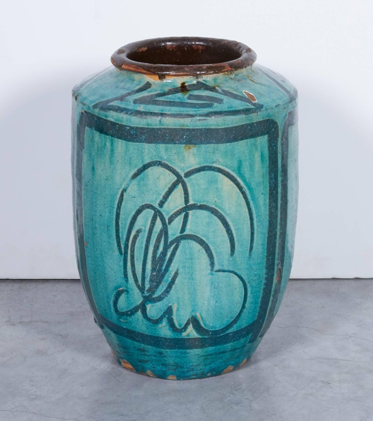 Chinese Food 10024: Antique Chinese Ceramic Food Jar With Bird And Flower