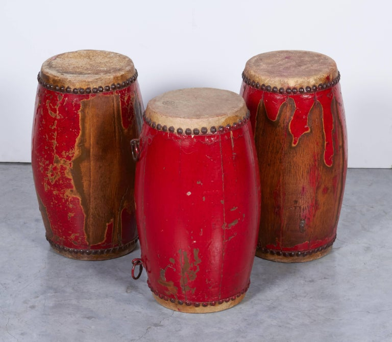 Antique Chinese Provincial Drums For Sale 3