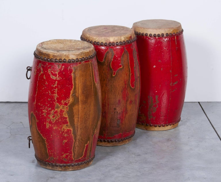 Antique Chinese Provincial Drums For Sale 4