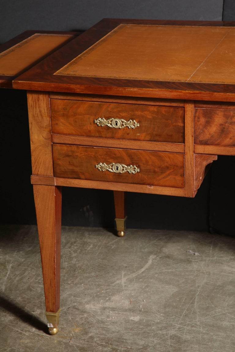 french mahogany leather top bureau plat for sale at 1stdibs. Black Bedroom Furniture Sets. Home Design Ideas
