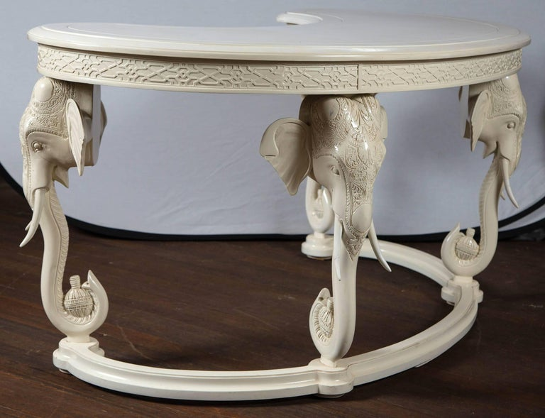 Late 20th Century Gampel Stoll Curved Elephant Desk For Sale