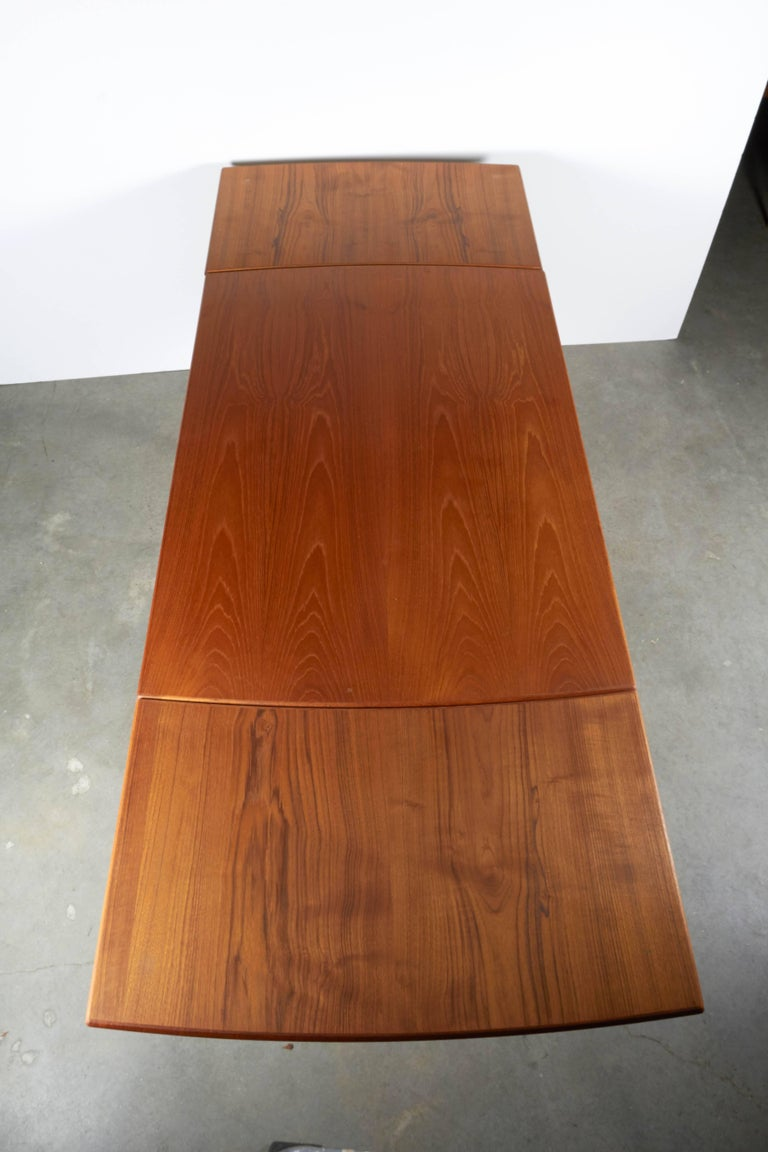 Danish Teak Expandable Dining Table 6