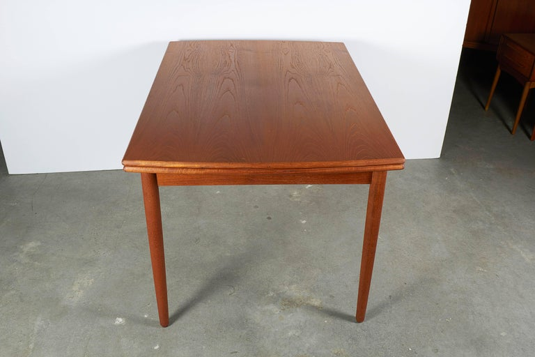 Danish Teak Expandable Dining Table 8