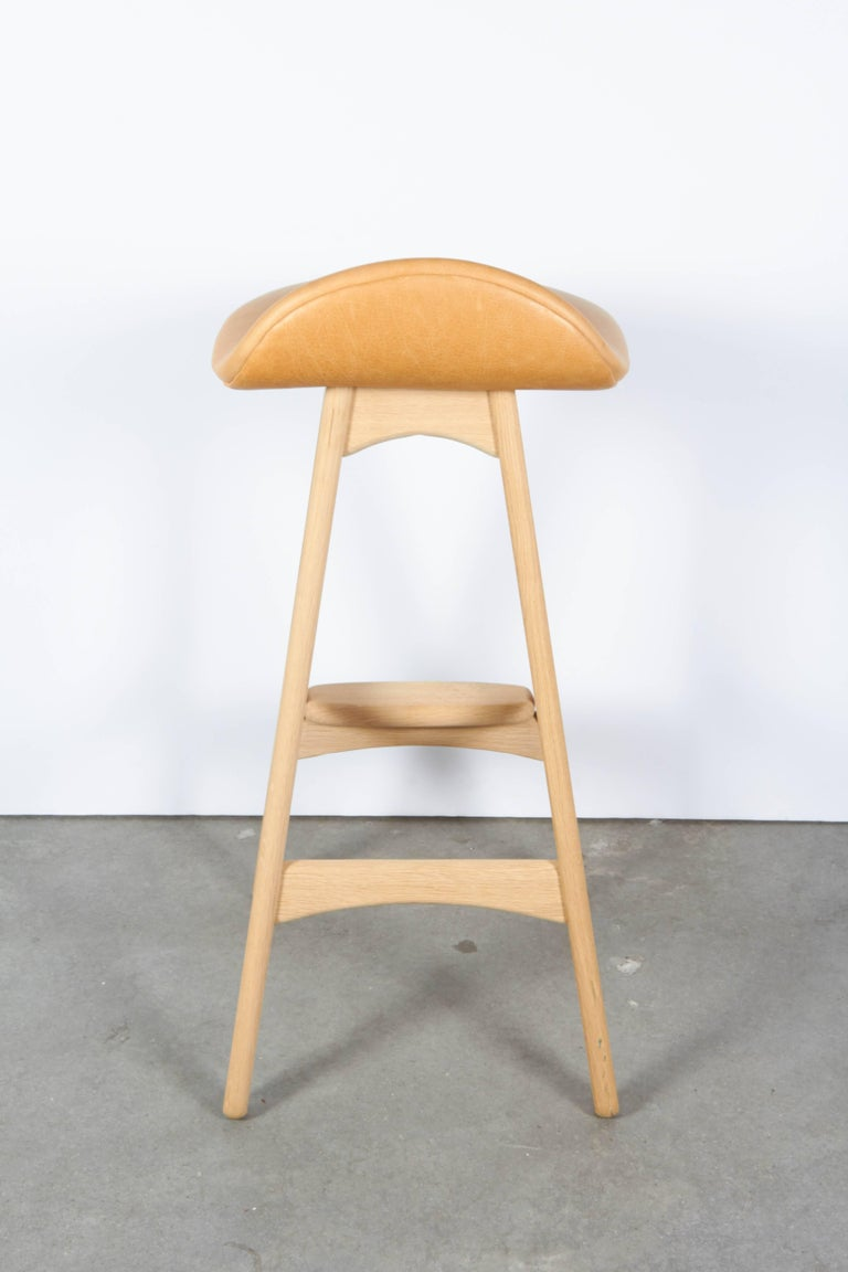 Erik Buch Counter Height Stool, Set of Three 8
