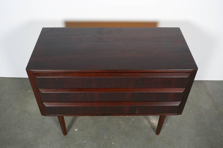 Midcentury Danish Night Stands by Larsen, Pair 3
