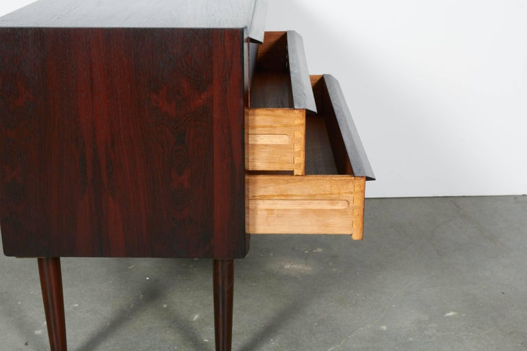 Midcentury Danish Night Stands by Larsen, Pair 7