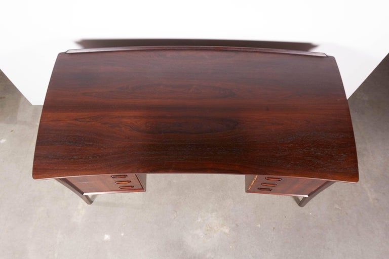 Danish 1960s Rosewood Desk by Svend Aage Madsen 3