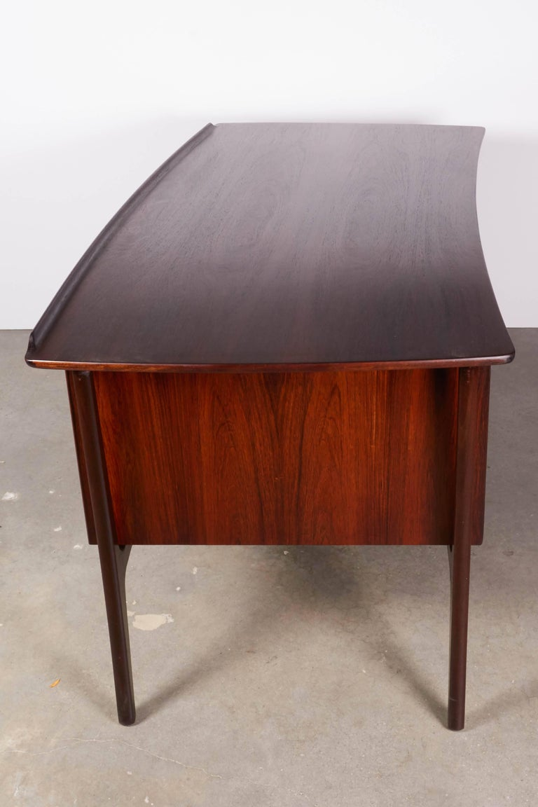 Danish 1960s Rosewood Desk by Svend Aage Madsen 6