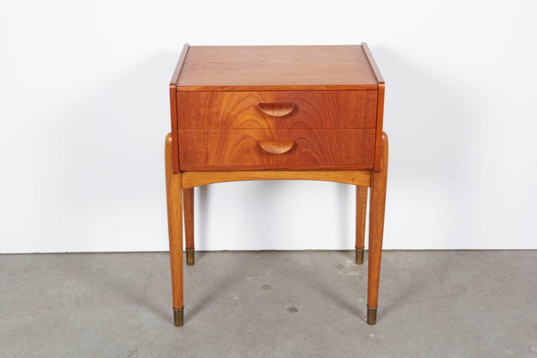 Danish Teak Nightstand by Poul Volther 2