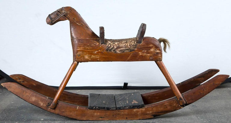 American Folk Art Child's Rocking Horse, circa 1900 In Good Condition For Sale In Chappaqua, NY