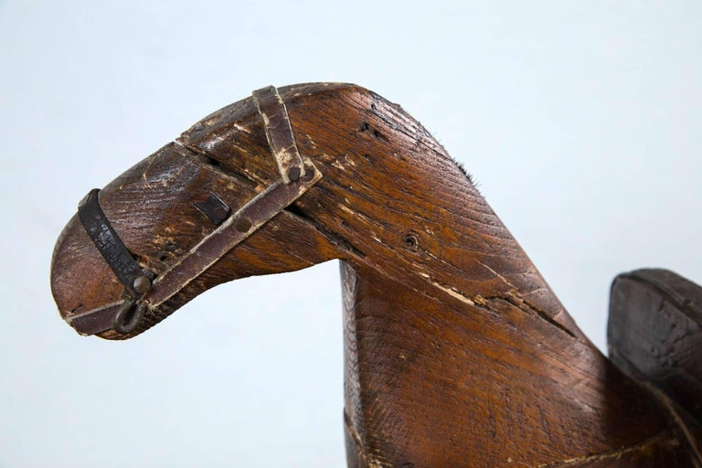 20th Century American Folk Art Child's Rocking Horse, circa 1900 For Sale