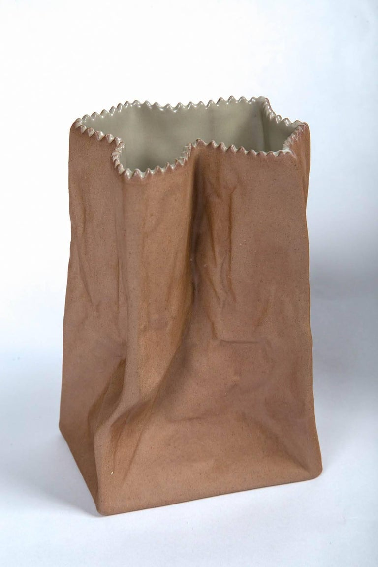 Finnish Vintage Paper Bag Vases by Tapio Wirkkala, Rosenthal, Finland, circa 1970s For Sale
