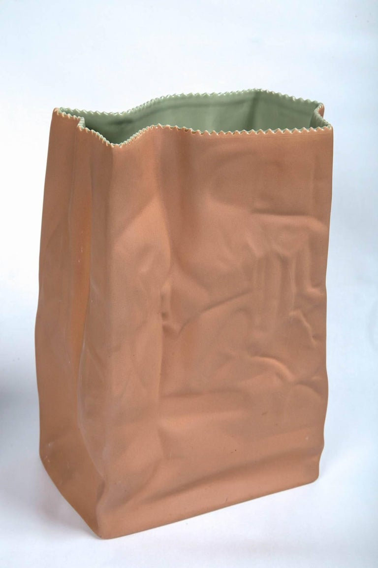 Vintage Paper Bag Vases by Tapio Wirkkala, Rosenthal, Finland, circa 1970s In Excellent Condition For Sale In Chappaqua, NY