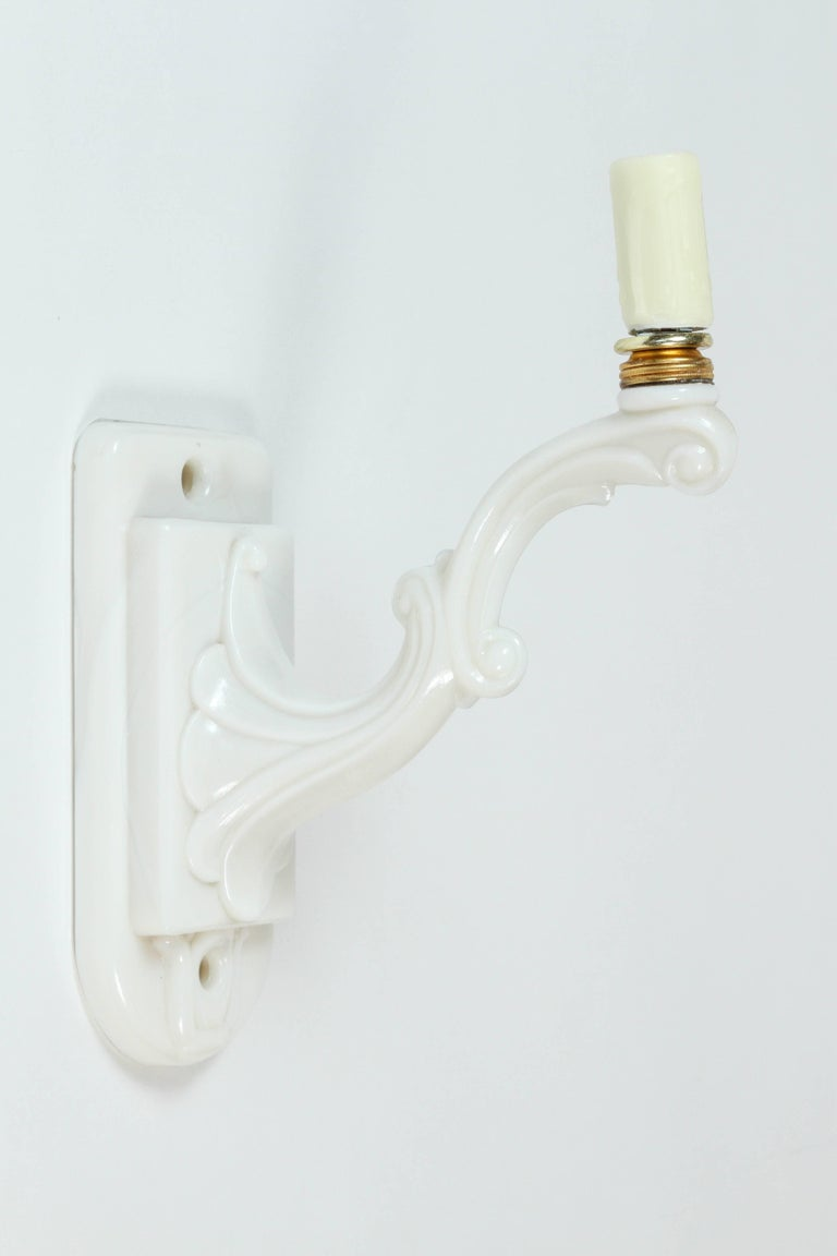 vintage milk glass single light sconce with all new wiring