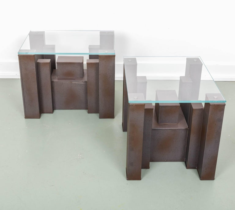 Pair Of Andrew Martin Columbus Side Tables For Sale At 1stdibs