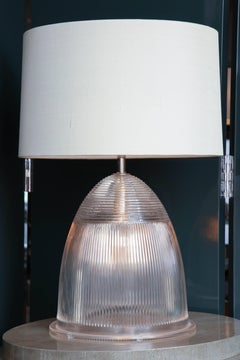 Industrial Prismatic Glass Double-Light Table Lamp