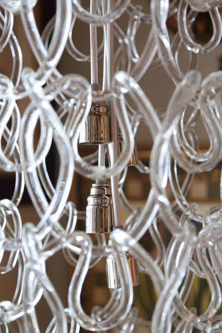 how to open a chain link chandelier