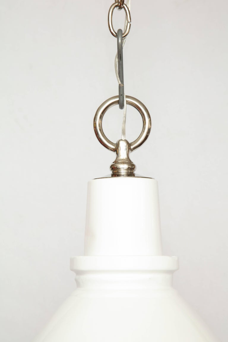 20th Century Highlander Light with Diffuser White For Sale