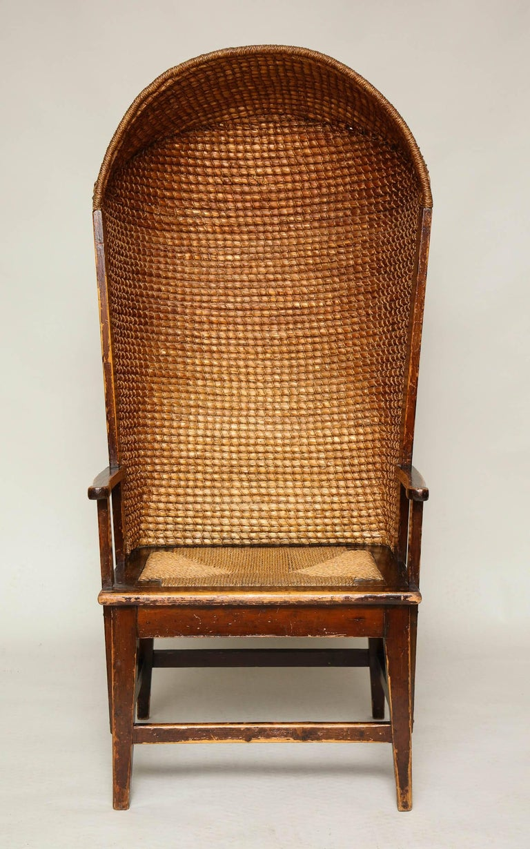 Rare Hooded Orkney Chair At 1stdibs