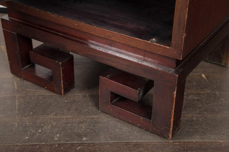 Pair of James Mont Style Bedside Tables For Sale 1