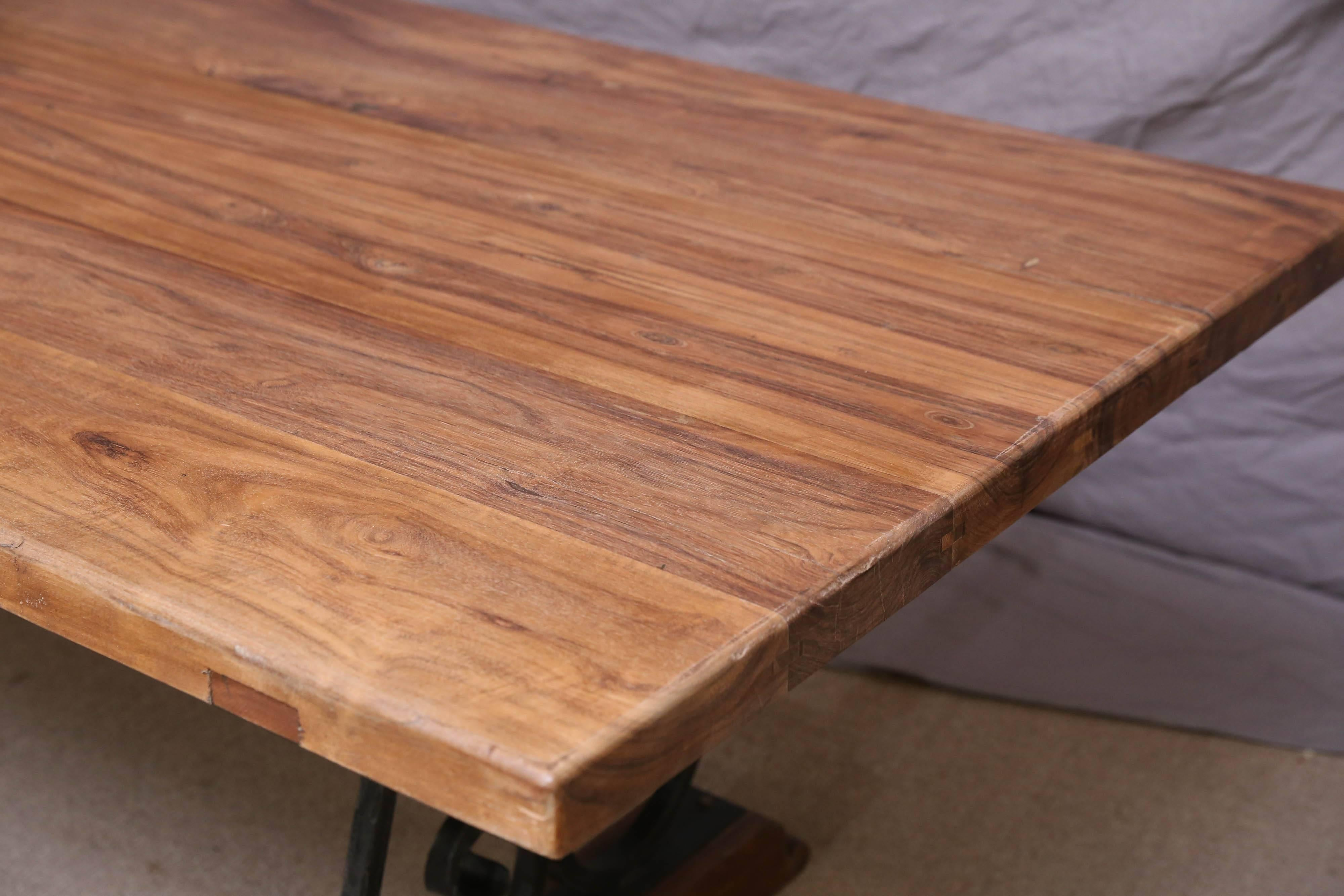 The Solid Teak Wood Top Comes From A 1920s Dutch Colonial Farm And The Iron  Base